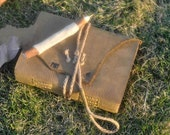 Handmade leather journal,natural color