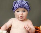 Beautiful Handmade Crochet Baby Hat - Purple - (size - 6-12 months) FREE SHIPPING