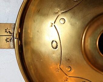 Chamber Stick Candle Holder Antique Scandinavian Brass 1890's