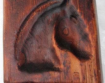 Primitive Horse Carving Rare