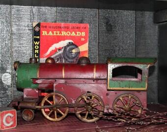 Rare Antique Tin Metal Toy Train