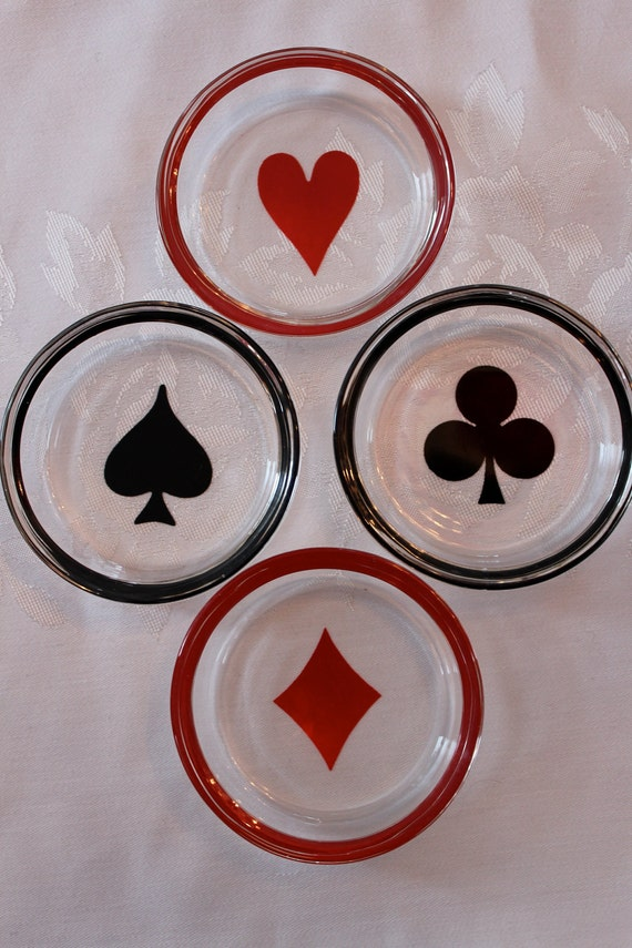 "Mad Men Retro ""Deck of Cards""  Vegas 1950's Coasters"