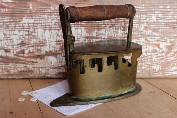 Reserve for Richard Sad Flat Iron Primitive Charcoal Brass Box