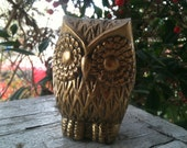 Brass Owl Figure- Small