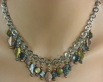 Multi Colored Metal Necklace - By Get Your Jewlz On