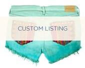 Custom Listing for Jmackner: Ombre Studded Tribal Cut Offs
