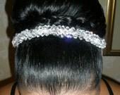 Swarovski Crystal Clear Evening Headband/ Headband