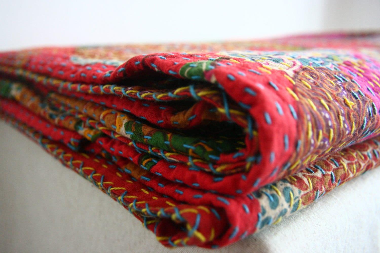 hand-stitched blanket