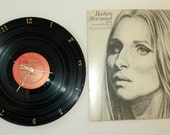 Wall Clock, BARBRA STREISAND Record Clock, recycled clock, from the Live Concert