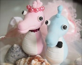 Lovely Seahorse Couple - Cake Toppers - Ready Made