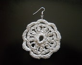 Crochet Lacy Circular Earrings