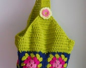 Summer Granny Square Market Tote/Bag