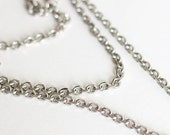 94 inches of silver colored metal chain FREE SHIPPING