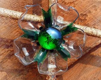 Recycle art - flower brooch