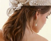 Bridal Fascinator Hat Couture. Handmade.