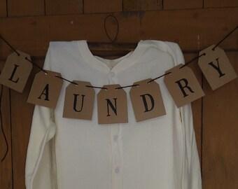 Laundry Room Decor, country primitive, cottage farmhouse decor, Laundry wall decor, Banner
