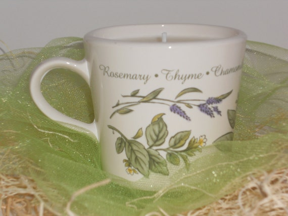 Lavender Teacup Soy Candle, Valentine Gift