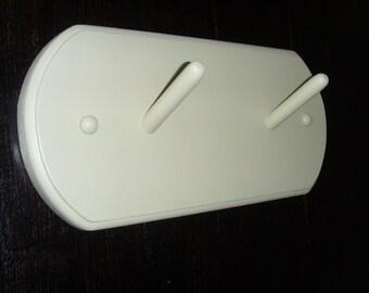 """Modern design Coat Rack 12"""" Off White Beige"""