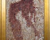 """Cork Art Mosaic- """"Unbound"""""""