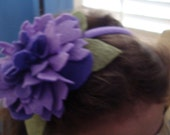 Purple and violet large flower head band