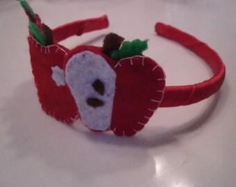 Apple time.... felt headband