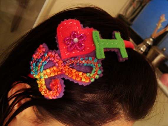 I love music felt headband