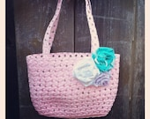 TuToo Cute Tote - Light Pink Mini Shopper with Rosettes