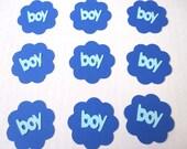 Baby Boy 2 Dozen Die Cut Tags Baby Shower Birthday Boy Cards Invitations Banners Scrapbooks