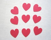 50 Mini Heart Die Cuts Scrapbooks Cards Favor Bags Invitations Banner Embellishments