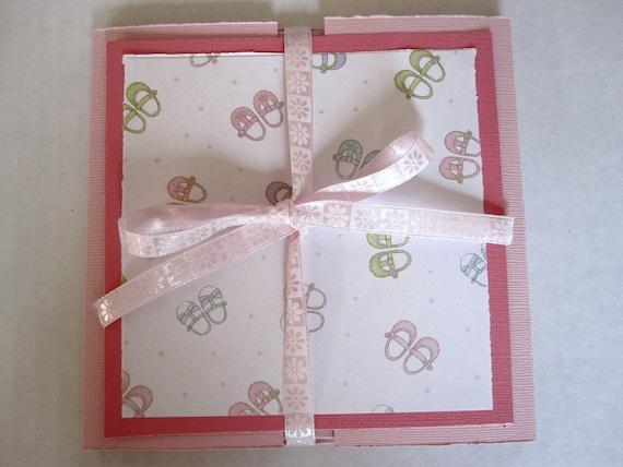 Baby Girl Mini Scrapbook Album Hard Stock Paper Memories New Baby Baby Shower