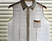 SALE Studded Short Sleeve Shirt