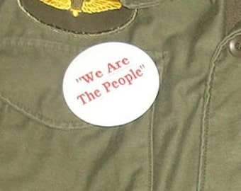 "On Sale.  Large Size.  Movie Accurate TAXI DRIVER button ""We ARE the People""  just like Travis Bickle  army jacket"