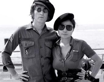 John Lennon Army Shirt.  Size Medium - TALL (15.5 X 35)