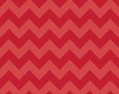 Medium Chevron - Red Tonal - Riley Blake 1/2 yard  - Sale - In Stock