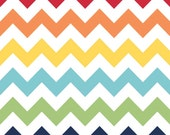 Medium Chevron - Rainbow - Riley Blake 1 yard Pre-order - Sale - shipping in August/September