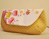 Summer Floral (yellow)  large Clutch purse