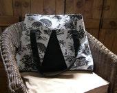 Spacious & Stylish Toile Travel Bag Handmade