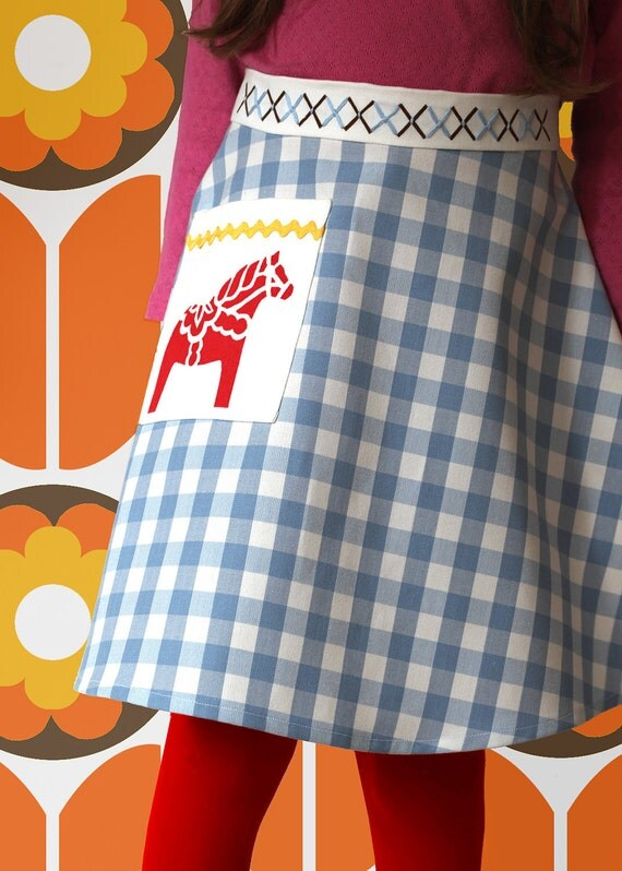 Girl apron in Scandinavian style