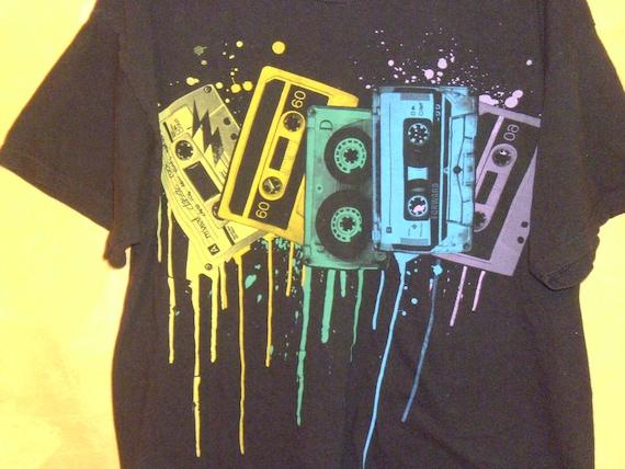 80's MuSiC T-ShiRt SilKScrEEn PainTsPLasH PuNK LarGe