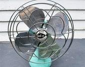 McGraw-Edison Vintage Electric Fan in Original Baby Blue Model G-1100R