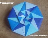Vancouver: Shades of Blue Octagonal Star Origami Gift Box