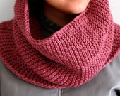 Cowl Scarf - Knit Circle Scarf - Oversize Neck Warmer - VARIOUS COLORS AVAILABLE