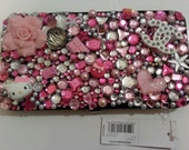 "rhinestone /resin clutch ""hello kitty"" girly mix  wallet"