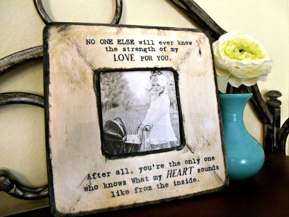 My Heart From the Inside Quote Picture Frame