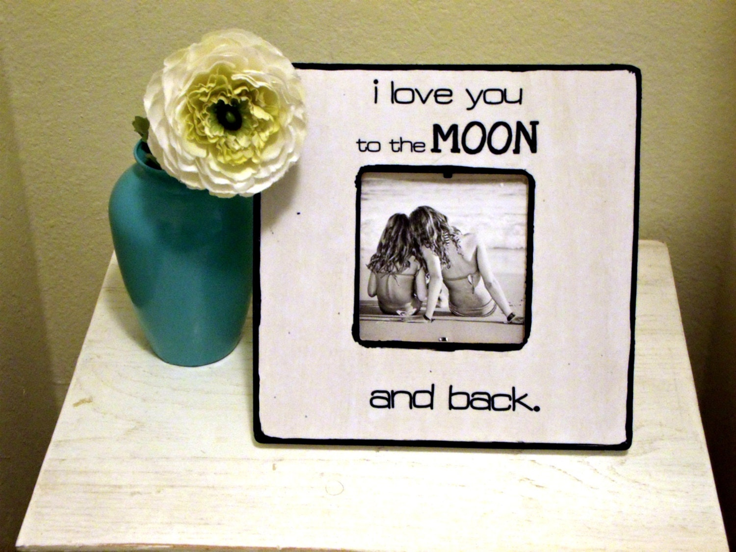 love you to the moon and back picture frame zoom