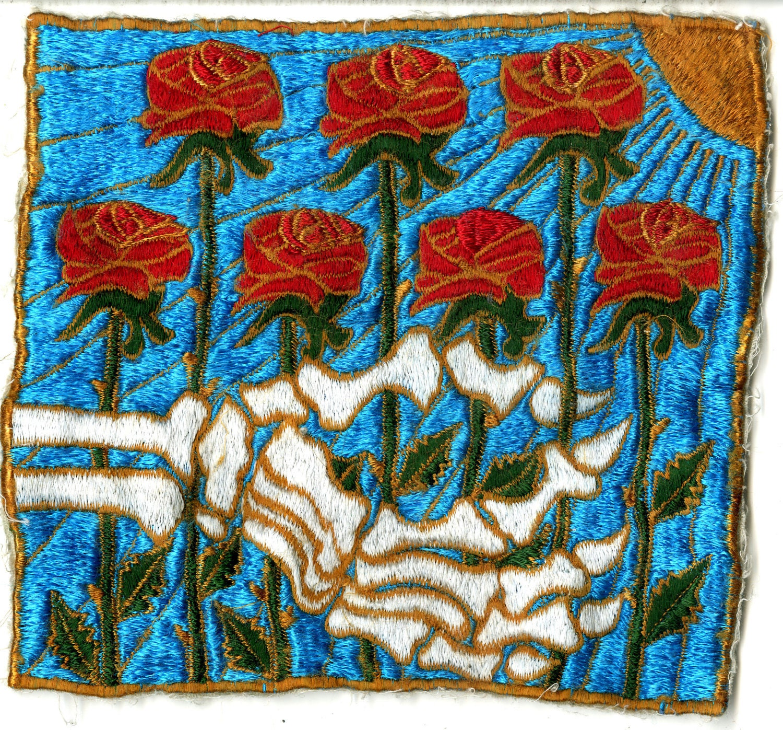 Grateful Dead Patch American Beauty Album Artwork Roses