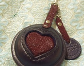stingray leather heart coin purse