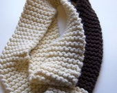 Chocolate and Cream Infinity Scarf