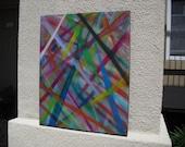 Original Abstract Acrylic/Oil On Canvas