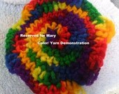 Reserved Item for Mary- Tie-die Crochet Baby Hat